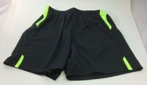 Xara Youth Medium Black/Green Soccer Shorts NEW BB3