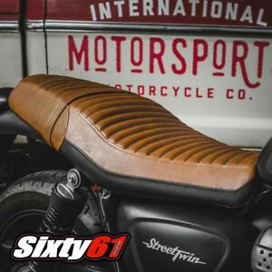 Triumph Street Twin Seat Cover 2016-2018 2019 2020 Vintage Brown Luimoto Rider
