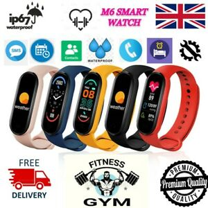 M6 Smart Watch Fitness Sports Tracker Activity Heart Rate Men Women Kids Gift