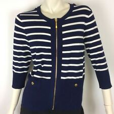 Spense womens Navy White Light Knit 3/4 Length Sleeve Top ( US Sz P) AU 10