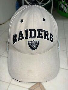 Nice Oakland /Las Vegas Raiders Hat Cap OSFA One Size White Black Logo