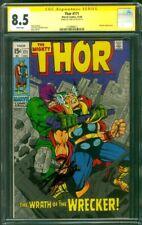 Thor 171 CGC SS 8.5 Stan Lee vs Wrecker Jack Kirby Bondage Cover 1969
