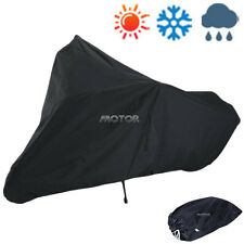 XXXL Motorcycle Outdoor Rain Cover for Harley Honda Cruiser Street Bike Black