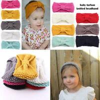 Cute Kids Girl Headband Baby Toddler Crochet Bow Hair Band Accessories Winter