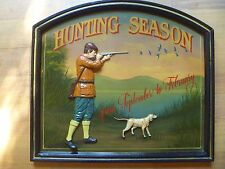 "tableau  country corner ""hunting season"" collector RARE!"