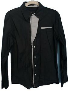 Thelees Mens Black Long Sleeve Fitted Shirt