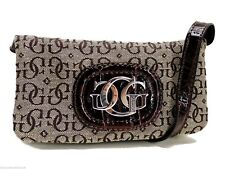Guess Mini Crossbody Handbag Brown & Beige Logo Signature Fabric New!