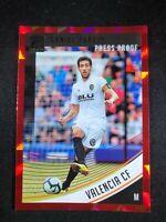 2018-19 Panini Donruss Soccer Daniel Parejo Valencia CF #86 Red Press Proof
