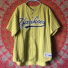 Ney York Yankees Alternate Yellow Pin Stripe Jersey Size XL