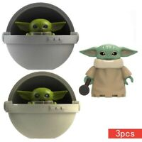 Baby Yoda Star Wars Set 3pcs Jedi Master Mini Action Figure Mandalorian Series