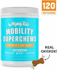 Mighty Tails Hip & Joint Supplement for Dogs, Natural Pet Mobility Superchews