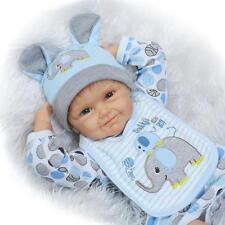 22'' Handmade Lifelike Baby Boy Doll Silicone Vinyl Reborn Newborn Dolls+Clothes
