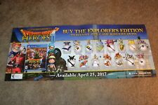 RARE Dragon Quest Heroes II 2017 Game Stop Store Display Poster 2x/Sided VGC!!!