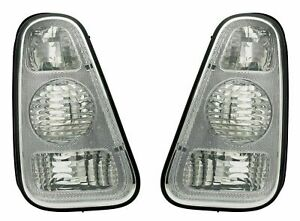 MINI ONE & COOPER R50 & R53 MK1 CHROME LOOK REAR LIGHTS TAIL LAMPS 2001-2004
