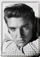 NOSTALGIC ART ELVIS PRESLEY Ritratto KING OF ROCK N ROLL Cartolina LATTA SEGNO #