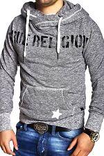TRUE RELIGION Sweatshirt Pullover Hoodie Sweater STARS Grau Brand Jeans NEU