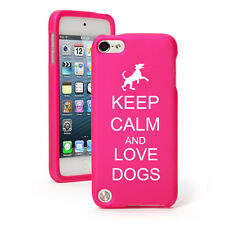 For Apple iPod Touch 4th 5th 6th Rubber Hard Case Cover Keep Calm Love Dogs