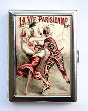 Art Deco La Vie Parisienne Court Jester Cigarette Case id case Wallet #3
