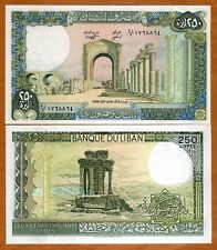 Lebanon, 250 Livres, 1988, P-67 (67e), UNC