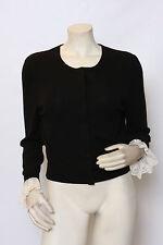 BEHNAZ SARAFPOUR Barney's New York Black Cashmere Cardigan Sweater sz L NWT