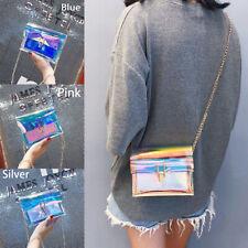 Women Laser Holographic Bag Clear Transparent Small Tote Hologram Handbag Purse