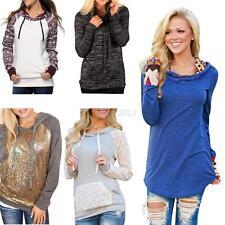 Women's Long Sleeve Hoodie Jumper Sweatshirt Hooded Pullover Sweater Coat Tops