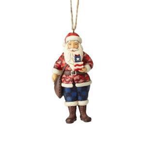 Jim Rive Camouflage Santa Noël Ornement Neuf avec Boîte