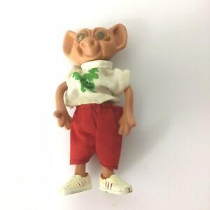Troll Doll VINTAGE BENDABLE Bendy FIGURE Original 1970's No Hair Hong Kong