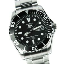 Seiko Sea Urchin Black Dial Stainless Steel Automatic Mens Watch SNZF17K1