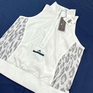 NWT Adidas by Stella McCartney Stu Hiit Tank Top 1/4 Zip Sz M White Women's