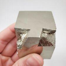 Large Pyrite Cube from the Victoria Mine in Navajún, La Rioja, Spain, ~3.5cm³