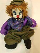 Porcelain Clown Doll, Sad Face, Artisan Way #300