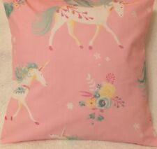 Unicorn Pink Girls Handmade Cushion Cover matches Laura Ashley Bedding 16x16""