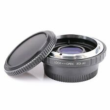 Canon FD Lens to Nikon AI Mount Adapter Ring w/Correctional Glass Focus Infinity