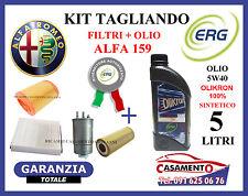 KIT TAGLIANDO FILTRI + OLIO ERG 5W40 ALFA 159 2.4 JTD 200CV 210CV 2005 IN POI