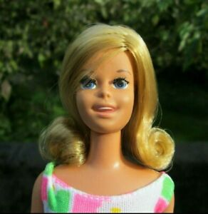 NON-PLAY 1971 JAPAN MALIBU FRANCIE DOLL~ROOTED LASHES~MINT DOLL~CURLED FLIP HAIR