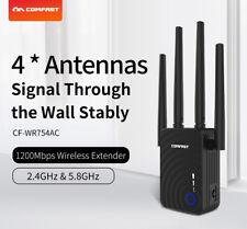 1200Mbps Wifi Repeater Wireless Range Extender Signalverstärker w / 4 x Antennen