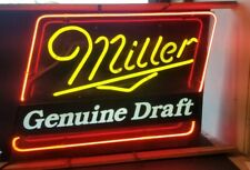 Vintage Miller Lite Genuine Draft Neon Sign