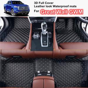 3D Shape Customized Waterproof leather look Car Floor Mats for Great Wall GWM