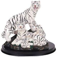 "7"" White Tiger Family Statue Figurine Safari Wildlife Wild Cat Animal Figure"