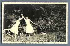 France, Fond de France, à la campagne Vintage silver print. Postcard paper. Cart
