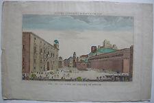 Vue d'optique Guckkastenblatt Granada Alhambra Espana Kol Orig Kupferstich 1800