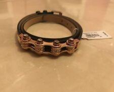 Emporio Armani Armband Leder Schwarz Rose