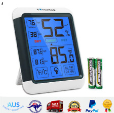 Digital Hygrometer Humidity Indoor Thermometer Gauge Touchscreen Temperature