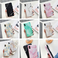 Pastel Marble Granite Pattern Frosted Soft Silicone Cover Case For Smart Phone