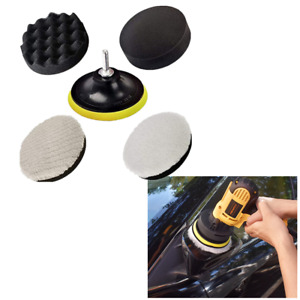 5 Inch Roundness Foam Buffer Pads Finish Polish Woolen Pad Fit For Car Polisher