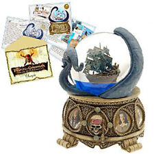 Disney Collectible Snowglobe Pirates of The Caribbean with Artwork & Pin