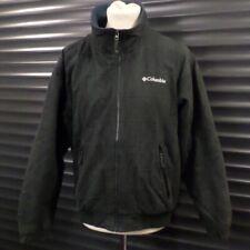 Columbia Windbreaker Fleece Jacket Green Grey Checked Check Men's M Medium