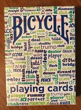"NEW 1 Deck Bicycle Cool ""Table Talk"" Playing Cards--Free Shipping"