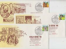 Stamps Australia 36c animals on limited edition set 5 gold rush festival Gympie